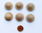 SOFT TOUCH - vintage hard to find buttons - set of 6 - 2.5cm\/1 inch