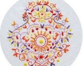 Embroidery Pattern Rococo Sunset PDF