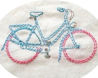 Embroidery Pattern Freewheelin' Bicycles PDF