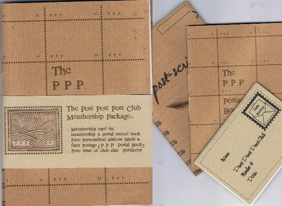 Join the Post Post Post Club - 3 booklet Happy Mailday pack