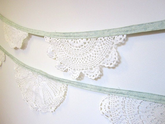 Mint Green Doily Bunting (1.5 metres)