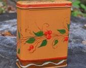 Berry Vine Handpainted Tin Bandaid Box