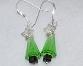 Swarovski Christmas Tree Earrings - Smaller Version