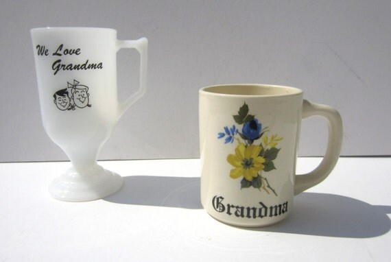Vintage Grandma Mug Set
