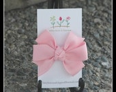 Bitty Hair Bow - Light Pink - Snap Clip - Cute With Everything - Stays In