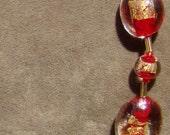Red and Gold Choker - 15 inch