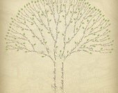 Custom Family Tree on Canvas - 5 or 6 Generation (down payment)