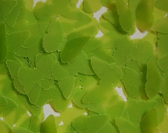 Lime Green Vellum Butterfly Cut Outs Confetti -- 100 Butterflies -- 1 inch size -- Ready to Ship