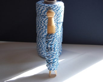 10 Yards Denim Blue Bakers Twine on a Clothespin -- Ready to Ship