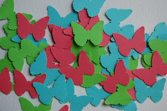 Bright Butterfly Medley Cut Outs Confetti -- Set of 50 butterflies