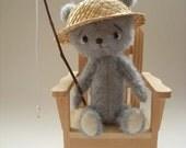 OOAK artist miniature bear Freddie the Fisherman