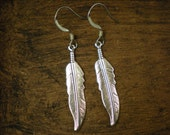 Boho Love. Silver Feather Earrings Gift