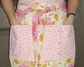 CLEARANCE Amy Butler Pink Lotus Lined Vendor, Craft Style Apron