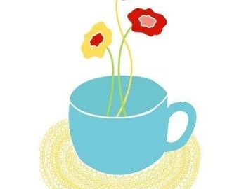 Teacup 8x10 art print
