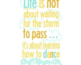 Dancing in the Rain 8x10 print