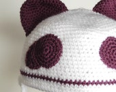 Purple Panda Cap - Adult RESERVED for Caitie125