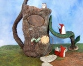 Log Hollow - Felted Apartment Home for Little Friends