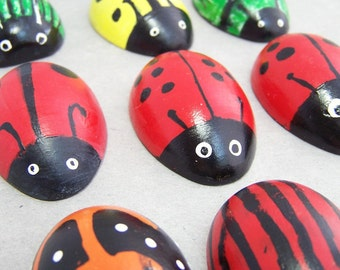 Wooden Bug - IN STOCK - Cute Bug Toy for Pocket, Desk, or Stocking Stuffer - Wooden Beetles, Ladybugs, Caterpillar - Bug Buddies Insect Toy