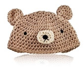 Crochet Pattern for Cute Amigurumi Bear and Bunny Baby Hat