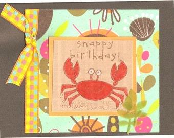 Sale-Tropical Crab Birthday Card