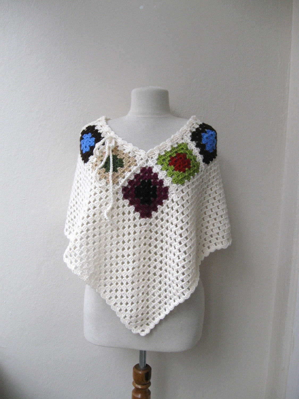 Crochet Patterns For Granny Square Poncho : Lighting