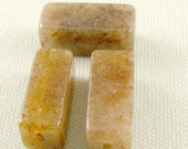 Chocolate Aventurine Beads Square Tubes (10)
