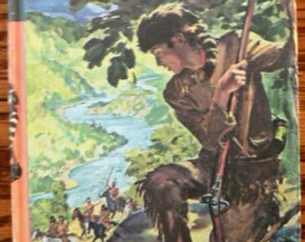 vintage book ... DANIEL BOONE with illustrations  ...