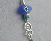 Sea Beach Glass Sqiggle necklace