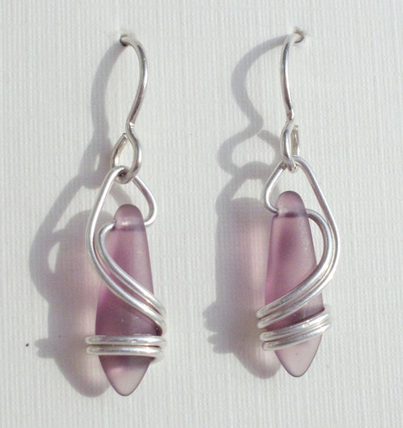 PURPLE  Right Coast Earrings