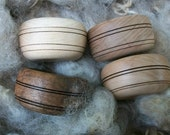 Original Russian support bowl for spindling. Siberian birch.  Hand made by Siberian craftsman.
