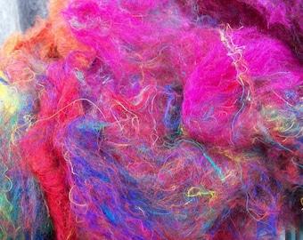 Sari silk  fiber. Gorgeous colors.Excellent quality.