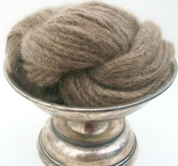 Hand spun 100%  mink yarn.Tawny brown, light tan .Gorgeous yarn, top quality . Czarina.