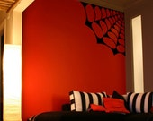 Large Spider Web Vinyl Wall Decal Art-Choose any Color and Finish