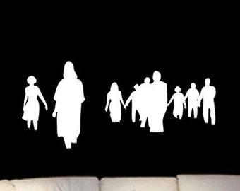 Zombies Attack Pack Vinyl Wall Art Graphic-Choose any color and finish