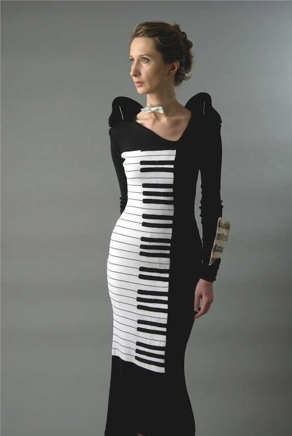 Custom listing for cgaleriu - OOAK  Wearable Art Concert Piano dress