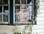 Can't I Play Outside - 7 X 10 fine-art photographic print of a spectral child