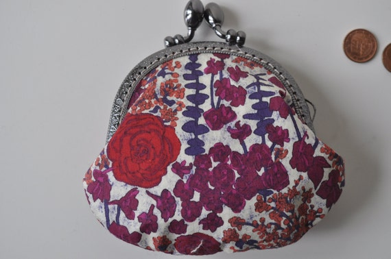 Coin Purse - Liberty and Linen - Floral Tana Lawn