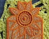 Sunflower Lace Bookmark