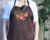Red Apple Apron (Chocolate Brown)