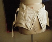 vintage fan-laced camp corset
