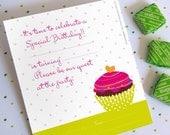 Cupckae Birthday Set. Printable PDF