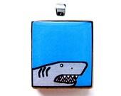 Scrabble-Tile Pendant -- Shark