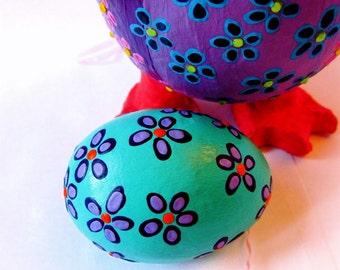 Aqua Egg Ornament