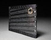 Mens Bifold ID Chain Wallet - Carbon Fiber Black