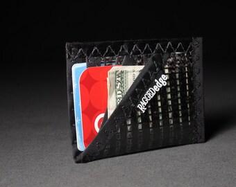 Mens Card Wallet - Carbon Fiber Card Sleeve ID - Black