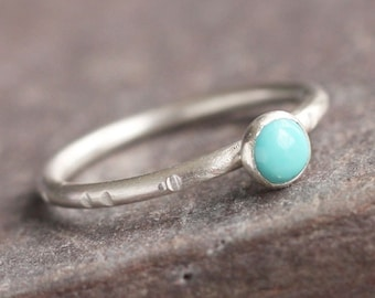 Little Joy - Cute Turquoise and Sterling Silver Ring
