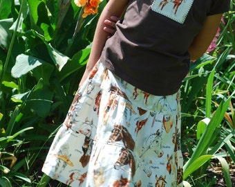 Sheree's Atelier Custom Horse Lovers 3-Tiered Skirt and Appliqued Tee Set...Custom Size 2-8