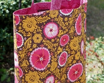 Sheree's Atelier Folksy Blossoms Cotton Shopping Diaper Shoulder Tote Bag