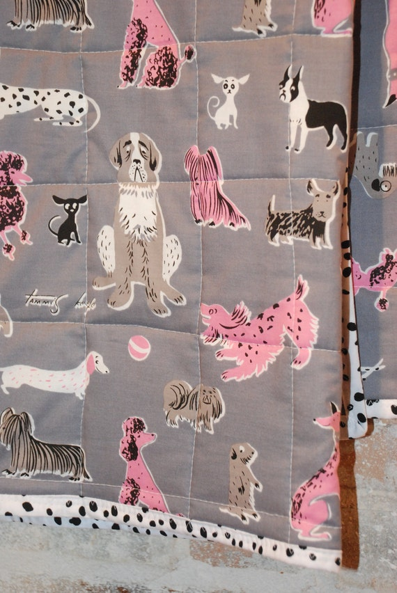Darling Pooches Cotton Baby Toddler Crib Quilt Bedding