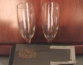 Reserved 6oz Engraved Champagen Flutes for Amelia